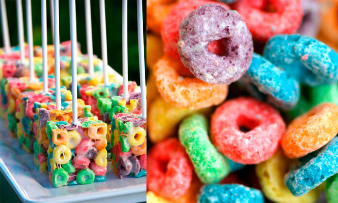 Receta de Fruit Loops Pops